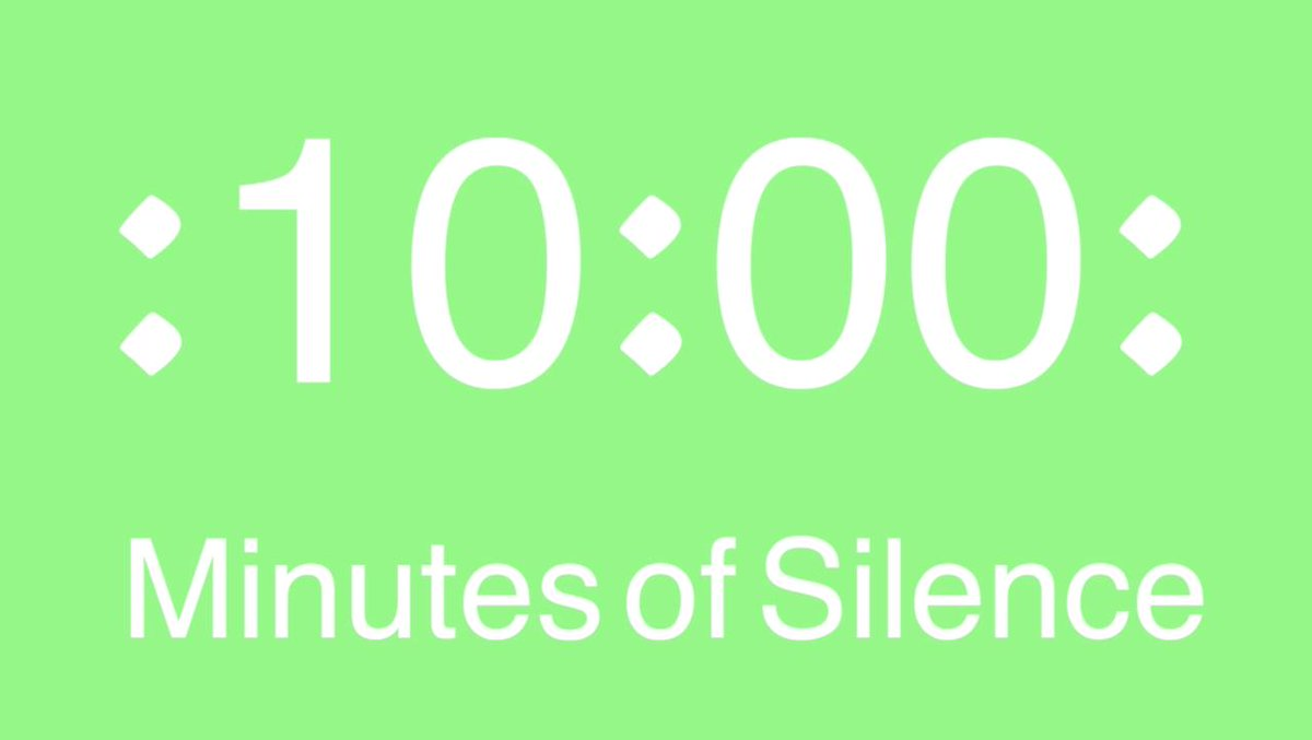 10 Minutes of Silence [in Flora Green]. https://youtu.be/wDPA7ulAkCw  - Please Subscribe! #Relaxation #Meditation #Silence #Flora #Green