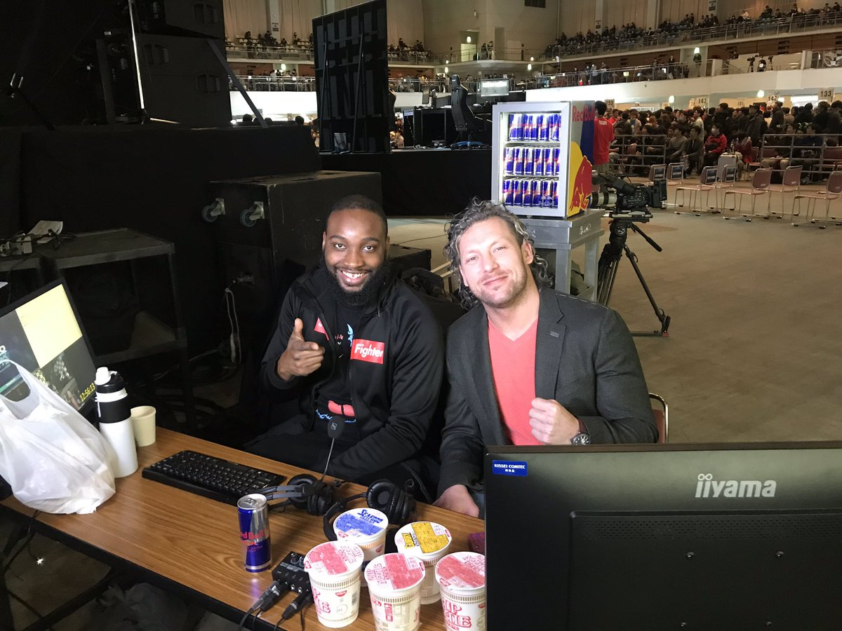 It's about to go down! @F_Word_FGC and @KennyOmegamanX commentating #SFV at #EVOJapan