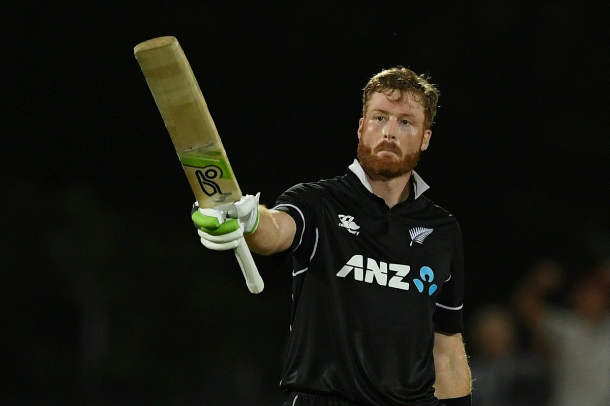🙌 MARTIN GUPTILL HUNDRED 🙌  The New Zealand opener brings up his second consecutive 💯 of the series – his 16th in ODIs! 💥  #NZvBAN live ⏬  https://t.co/7VLP5qBUjG