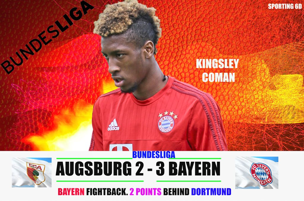 Bayern comes back from down under to win the match against Augsburg. Bayern is capitalizing on the Dortmund's slip. #fcbayern #MiaSanMia #FCAFCB #AugsburgBayern #FCB #packmas #FridayThoughts #Bundesliga
