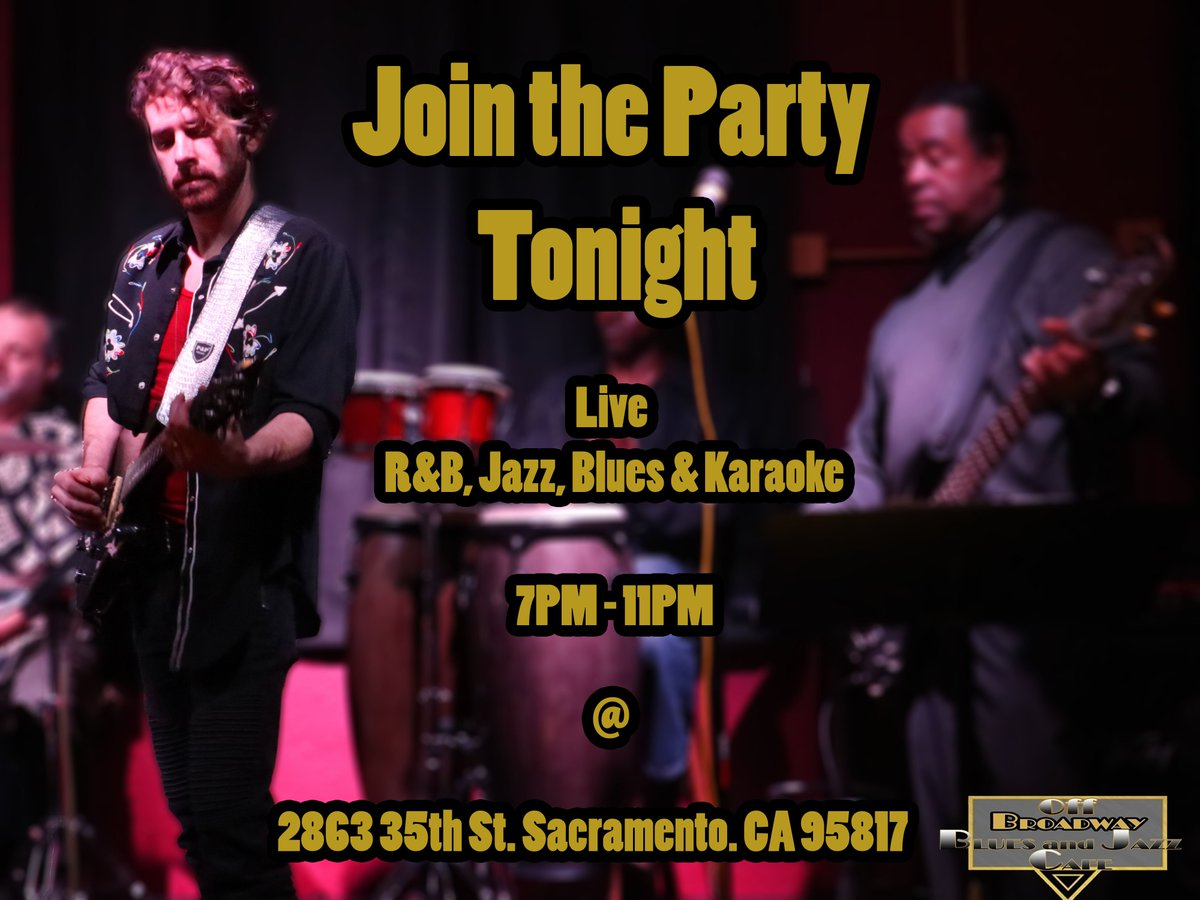 Join us tonight for a night full of #livemusic .  #Singing #Live #Guitarist #liveband #music #Sacramento #Blues #JazzLovers