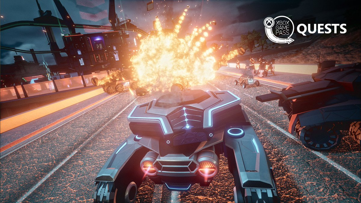 Explosive new @XboxGamePass Quest alert! Complete two achievements in #Crackdown3 and get 200 Microsoft Rewards points.  🎮: https://xbx.lv/2SBYS9X