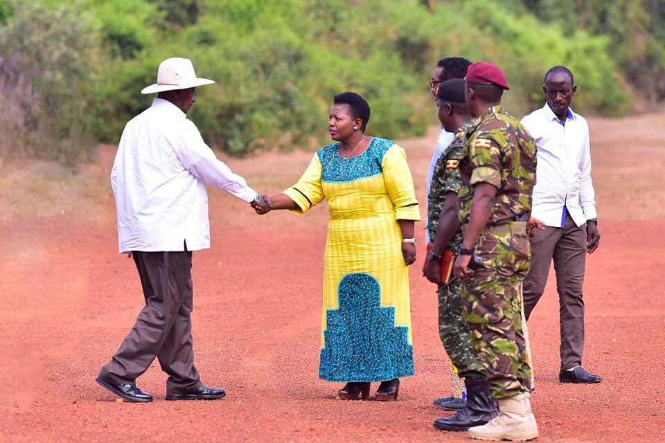 President @KagutaMuseveni is welcomed to Chobe Safari Lodge in Amuru district for this year's #CECRetreat19 that kicks off this morning by the #NRM Secretary General Justine Kasule Lumumba