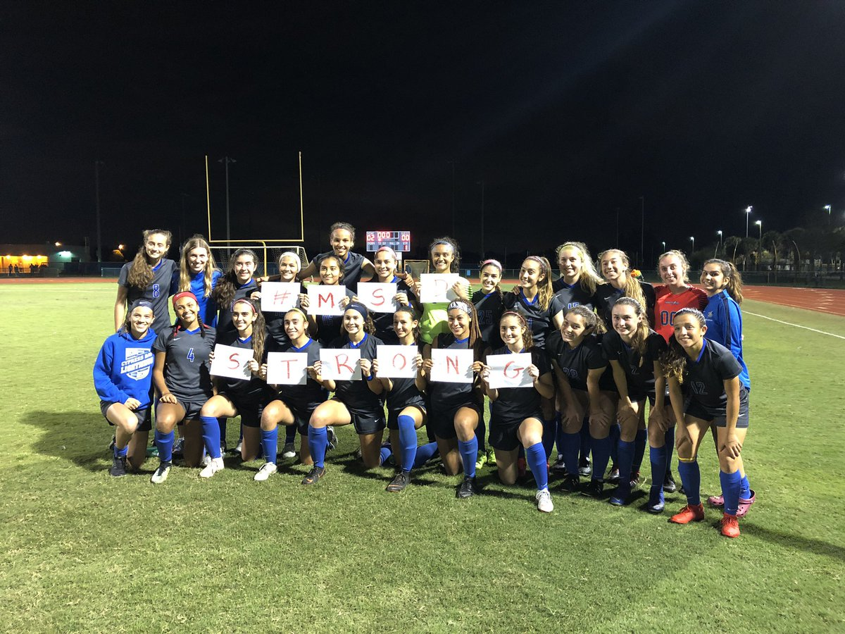 And with a 2-0 win v @VBHSNation your @cbgirlssoccer is going to the 5A FHSAA STATE FINAL!!!!! Can't wait to see these girls take it to Delano on Friday at 4pm! ⚽️⚡️♥️🥅 #morethanagame #statesbound #onemore @FHSAA @BCAA_Sports @SSHighSchools