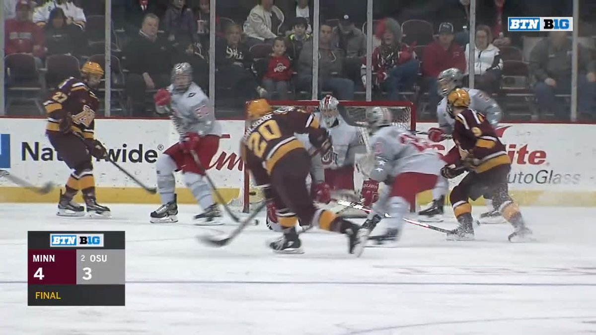 The top plays from @GopherHockey's 4-3 victory over Ohio State on Friday night.