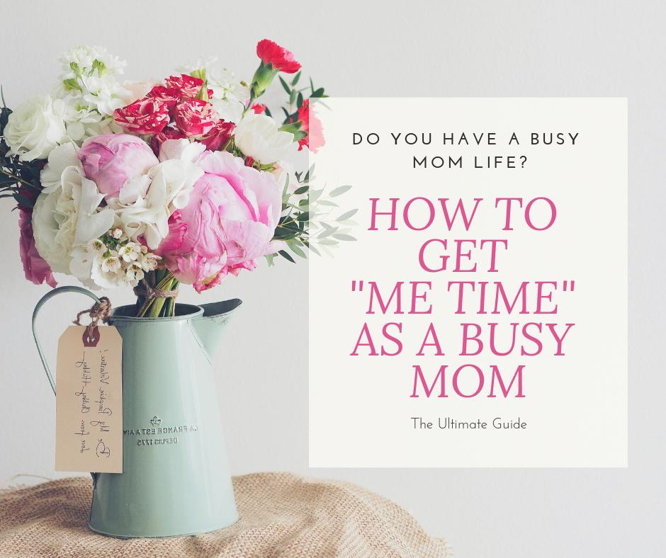 """Are you getting enough """"me time"""" as a busy mom? Here are some tips on how to get more of it! #mom #metime  https://buff.ly/2S4wpV6"""