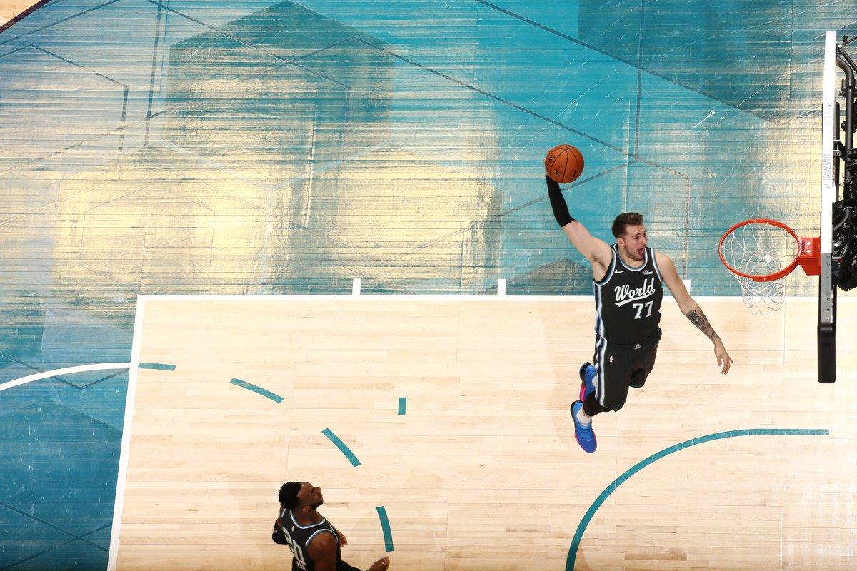 🇸🇮 13 PTS / 5 REB / 9 AST / 2 STL per @luka7doncic al suo esordio assoluto nell'#NBAAllStar weekend!  #MTNDEWICERisingStars | #NBARooks