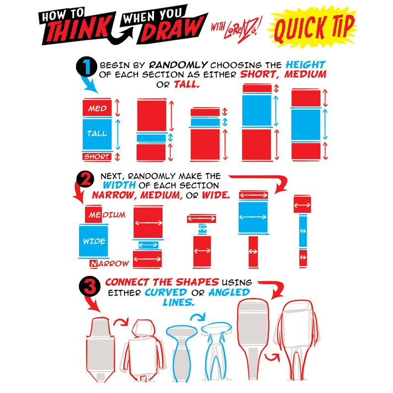 Today&#39;s #HowtoTHINKwhenyouDRAW Quick Tip is A REALLY FAST WAY to create ENDLESS CHARACTER DESIGN SHAPE VARIATIONS! #arttips #arttutorial #drawingtips #artprocess #stepbystepart #drawingtutorial #howtodraw #howtodraw #drawingtutorial #characterdeisgn #conceptart<br>http://pic.twitter.com/YY2segOscb