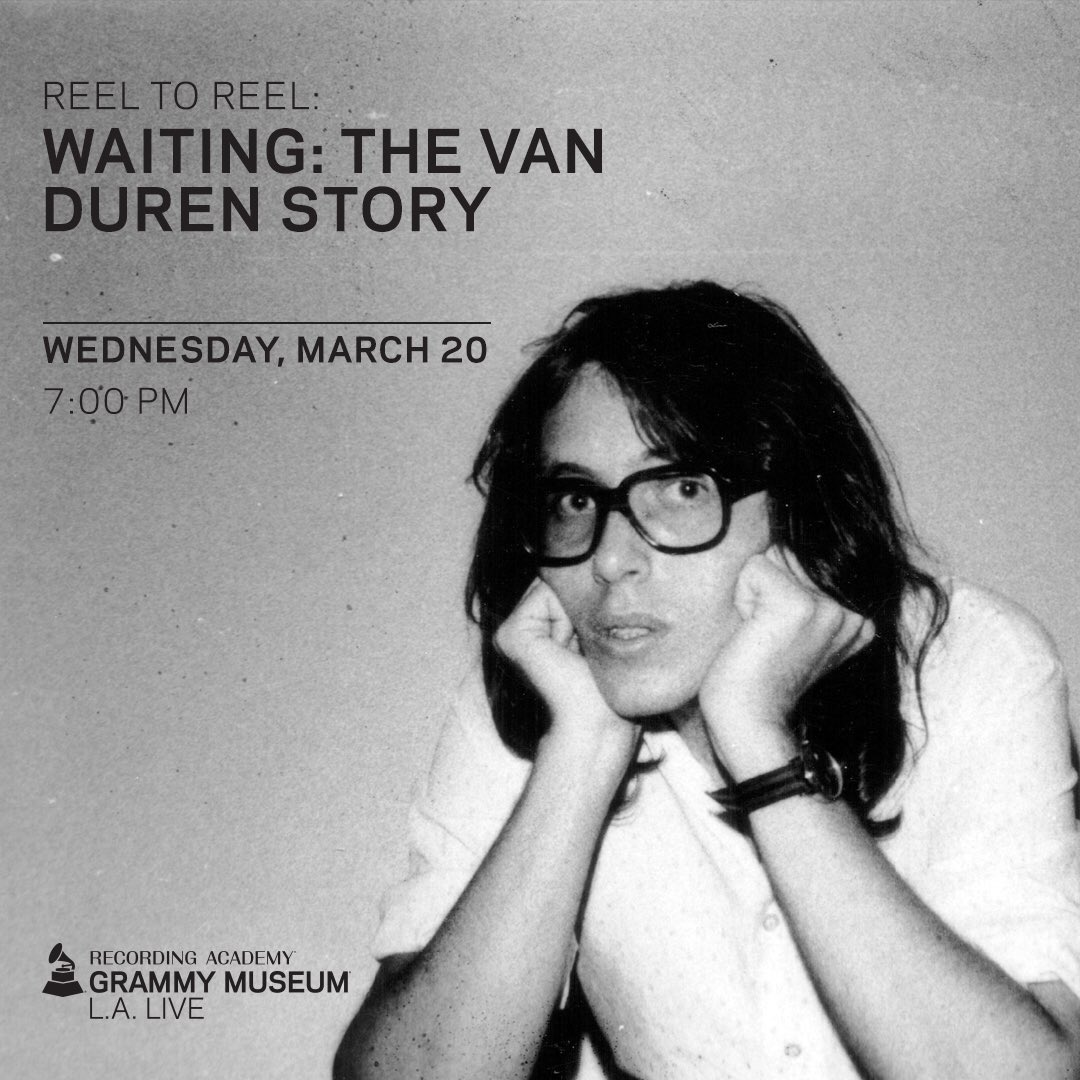 Friends in LA, the @WaitingTheDoco film on @vandurenesque will screen at the @GRAMMYMuseum 20th March. Thanks to @OmnivoreRecords #vanduren #omnivorerecordings #Grammys2019 #grammymuseum #waitingthevandurenstory<br>http://pic.twitter.com/rQErYzcLGI