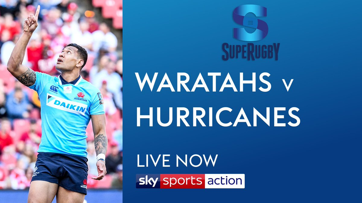 More action from @SuperRugby live now on @SkySports Action.  The star-studded @NSWWaratahs host @Hurricanesrugby in Sydney. Join us now!   #WARvHUR