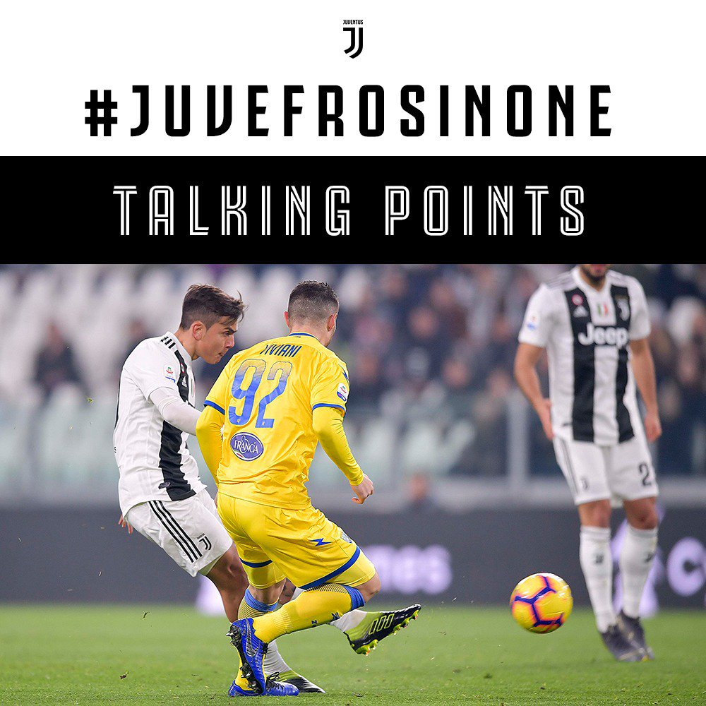 Back-to-back victories in Serie A 🔝 Unbeaten in 24 league games 💪 Goals from @PauDybala_JR, @bonucci_leo19 and @Cristiano ⚽️  Here are 🖐🏽 Talking Points from #JuveFrosinone ➡️  https://t.co/Nd5Y91Sn5B