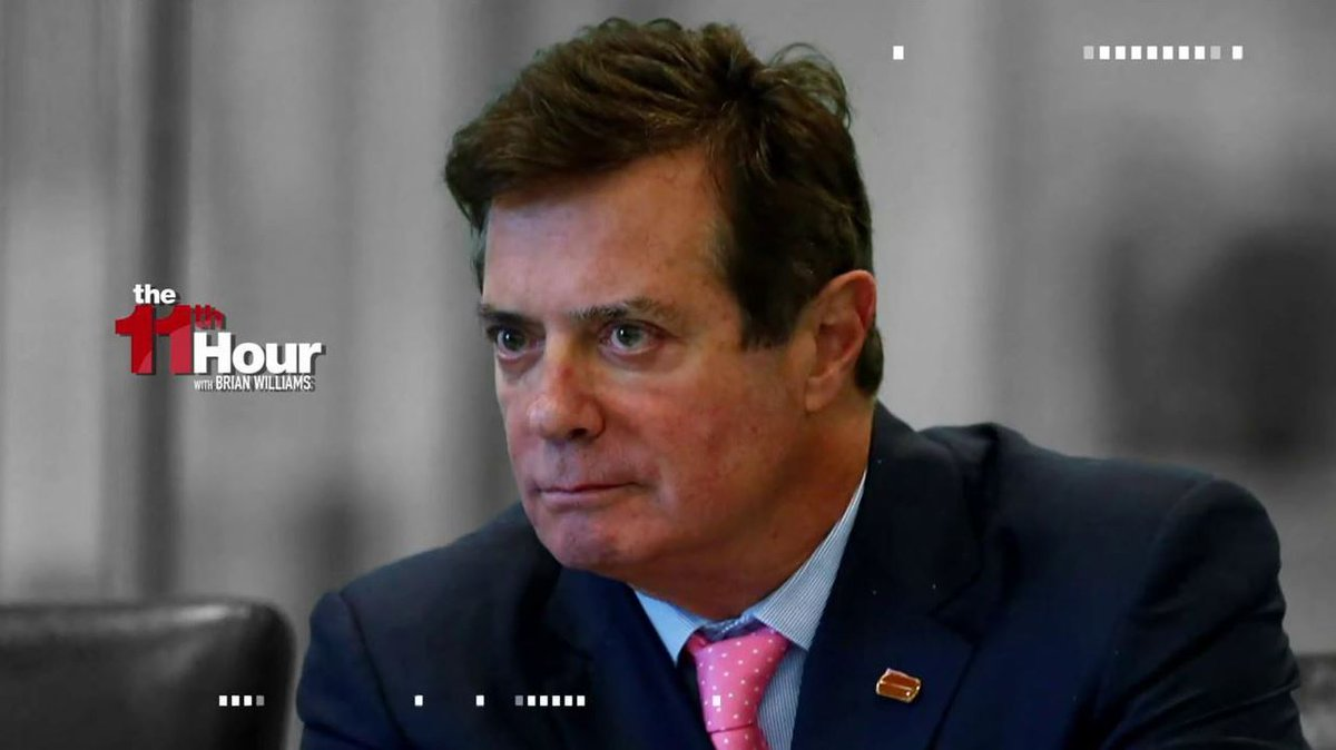 Fmr. FBI veteran @FrankFigliuzzi1: It looks like Manafort has the goods regarding Russian cooperation with the Trump campaign. Learn more: https://on.msnbc.com/2TRrsRn #11MSNBC #11thHour