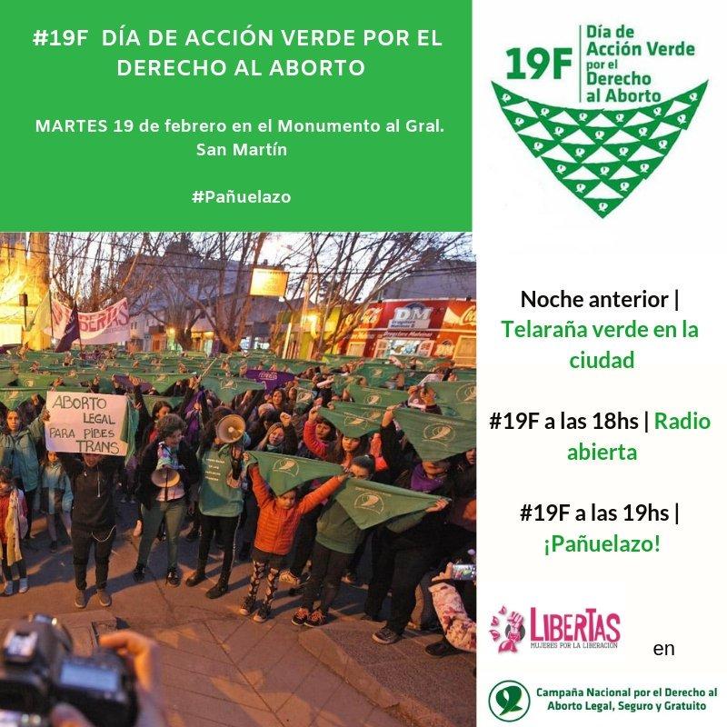 #19F en #Neuquén  🔊 en el Monumento a San Martín  💚 18 h. Radio abierta 💚 19 h. Pañuelazo #SeguimosHaciendoHistoria
