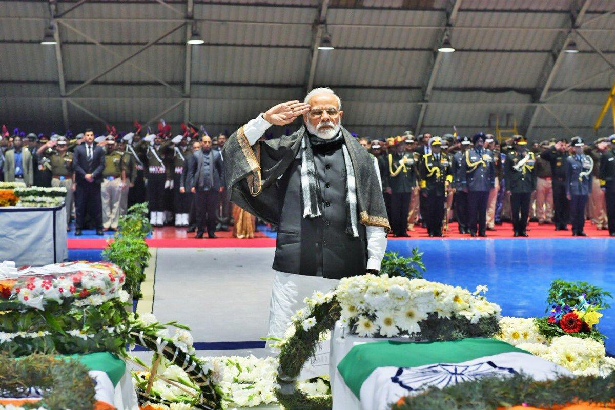 We salute you, brave sons of Mother India  You lived for the nation and served the country with unparalleled valour  We stand in solidarity with the bereaved families: @narendramodi | #PulwamaAttack #LIVE #Updates:  https://t.co/avteSAOAFP