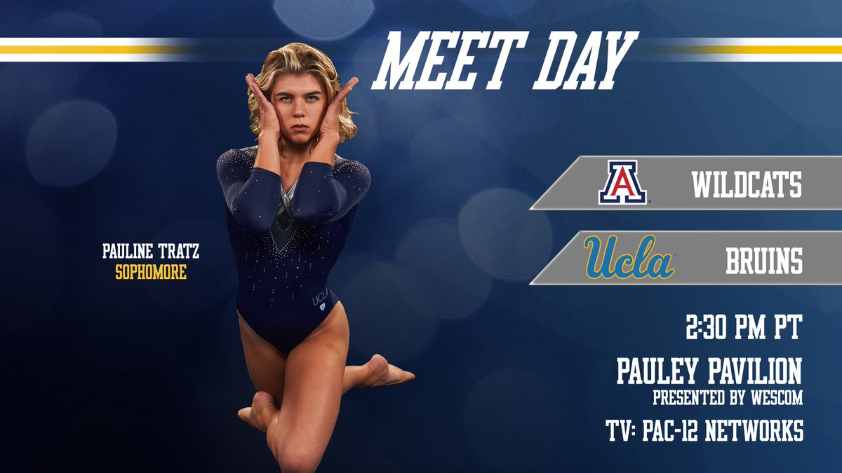 #MeetDay in Pauley Pavilion is back! Join us at 2:30pm PT today as we host @ArizonaGymCats in our first-ever BruInclusion Meet! Doors open at 1:30pm. #GoBruins