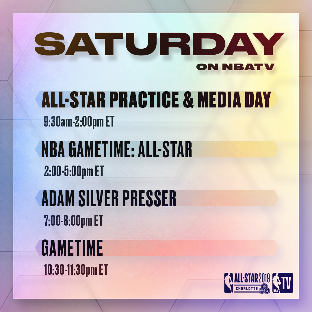 A look at today's #NBAAllStar events on NBA TV! 📺