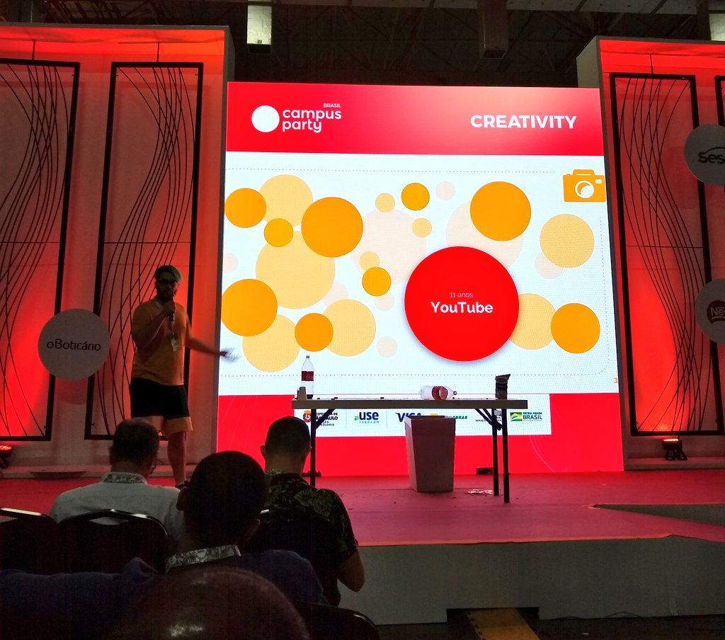 #CPBR12 Uma das últimas palestras do penúltimo dia de #CampusParty foi do @Vincynite no palco #creativity sobre uma das formas de monetizar seu conteúdo na internet com aplicativos de vídeo como @tiktok_bra, @streamLiveme, @UpliveUSA, @likeappofficial e @vigovideobrasil. #video
