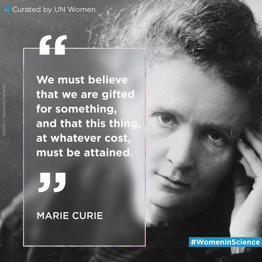 Join us in celebrating the #WomenInScience, such as Marie Curie, who inspire the world with their achievements, perseverance & courage in the face of patriarchal challenges that persist in the world of #STEM.