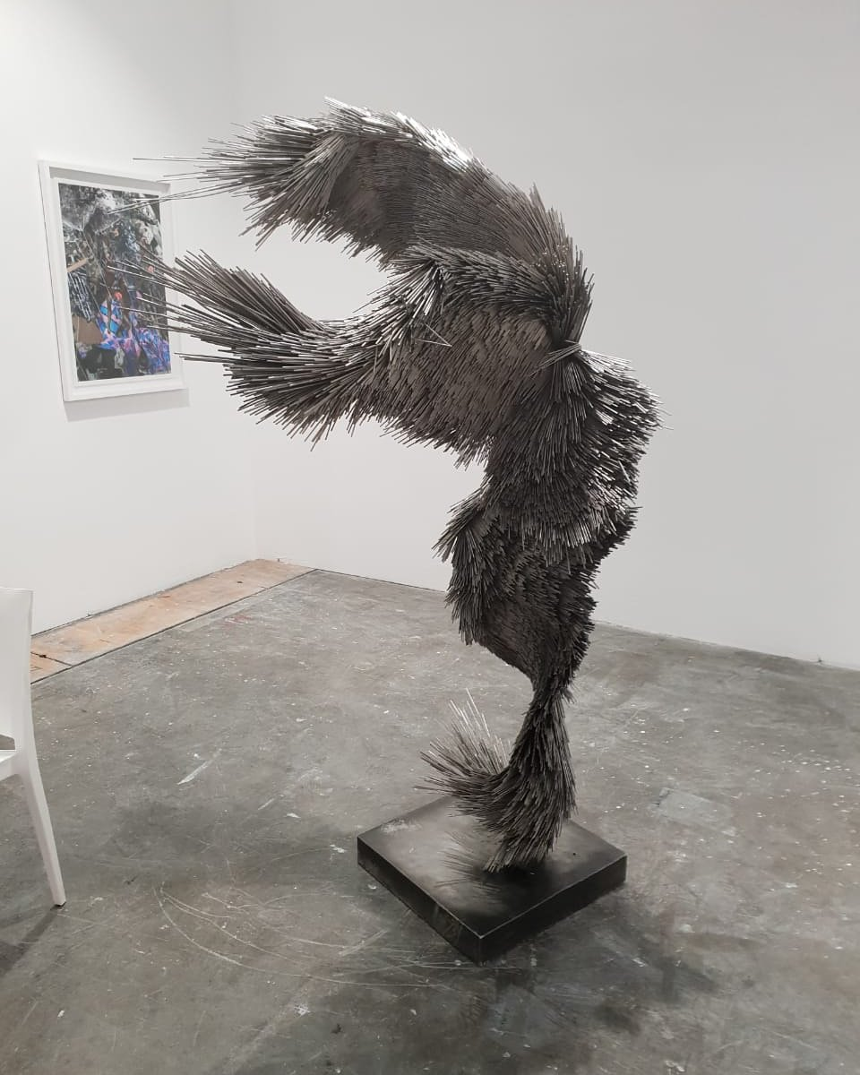 Artist Jake Michael singer @jakemichaelsinger who is currently exhibiting at the Investec Cape Town Art Fair @investeccapetownartfair and being represented by Matter Gallery @mattergallery #capetownartfair #artfair #art #africanart #Africa #blackart #creativity #gallery #artist