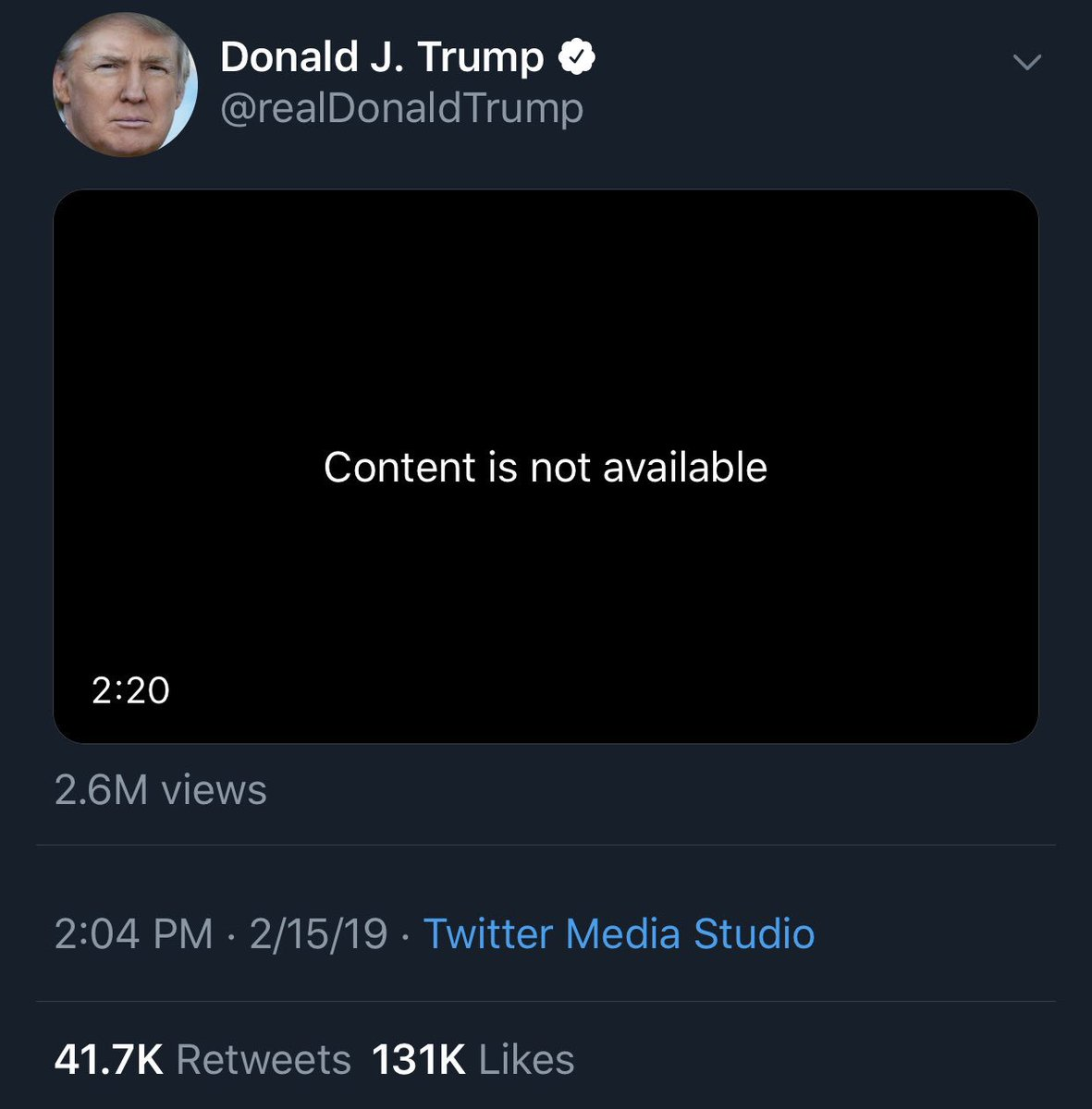trump's video getting taken down for a copyright violation, which in turn rallies the masses to cry about twitter censoring conservatives is about the perfect way to end this week