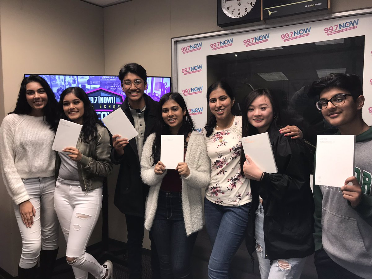 Thank you again #MSJHS for killing it in the studio! Hope you enjoy your new @BTS_twt #LoveYourself albums 💜💜💜  #takeover997