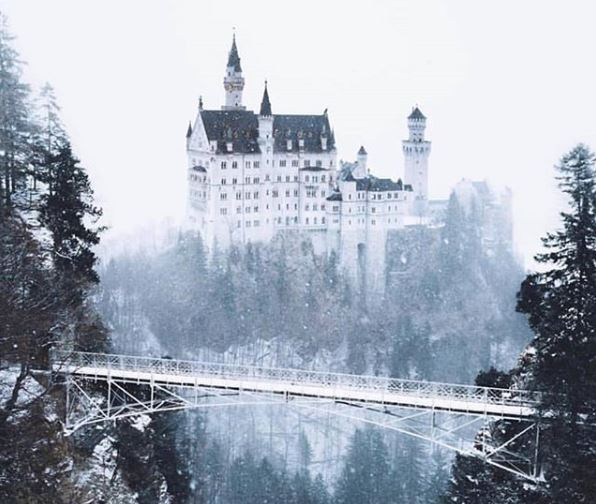 IMAGE: Neuschwanstein Castle, Germany.  (Credit: Instagram user - joonaslinkola) https://t.co/07LJWgvRSR