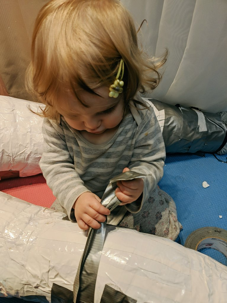 Take your baby to work!   Will fursuits as I know them still be around when she&#39;s old enough to make one?   I don&#39;t know the future but she&#39;s welcome to &#39;help&#39; me out in the meantime   #fursuitmaker #momdaughter<br>http://pic.twitter.com/PyTKjnAhDD