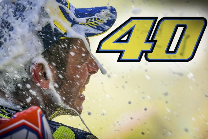 Happy 40th Birthday to   Valentino Rossi