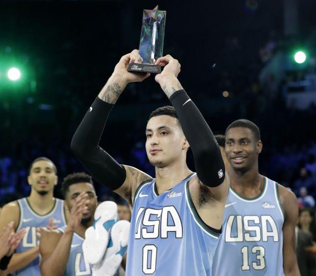 Hoop News Kuzma wins MVP, US tops World in Rising Stars 161-144 http://watchbasketballvideos.com/index.php/2019/02/15/kuzma-wins-mvp-us-tops-world-in-rising-stars-161-144/… #NBA #Basketball