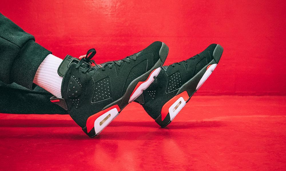 the infrared air jordan 6 with og nike air branding just dropped in europe 0b6fd6cb8a