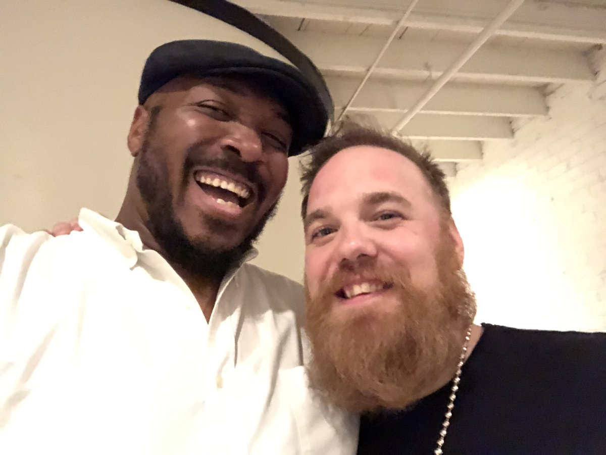 """I first heard @MarcBroussard when a friend let me hear the song """"Home"""" in '03. After it was over, I knew I'd heard the real thing. I've been a fan every since. Today, I heard & met him in person for the first time. He was just as real as his music. Thanks Marc! #BucketListStuff"""