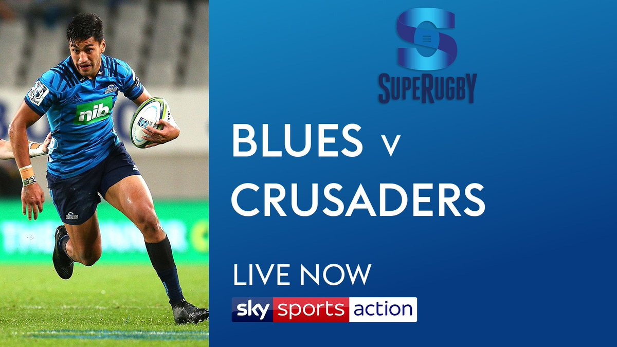 test Twitter Media - 🚨 Our first live @SuperRugby game of the day is live now 🚨  Join us on @SkySports Action for coverage as @BluesRugbyTeam take on @crusadersrugby at Eden Park.  #BLUvCRU https://t.co/BswfZHHxaL