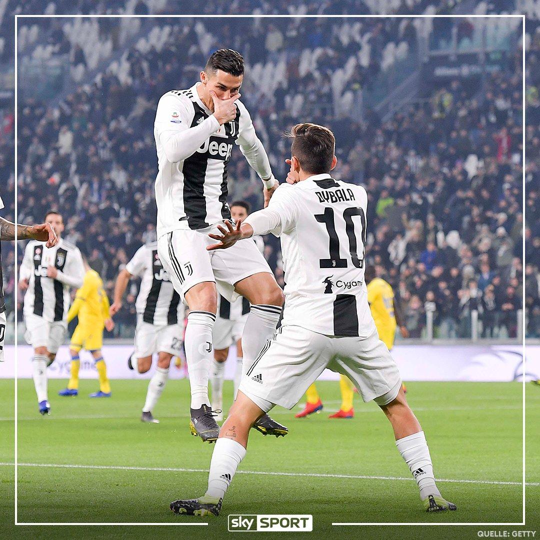 Die Zwei scheinen sich gefunden zu haben! Dybala mit Traumtor gegen Frosinone nach Vorlage von Ronaldo. 😍😅 Das Tor seht ihr hier:  https://t.co/5nwkvIh2EZ