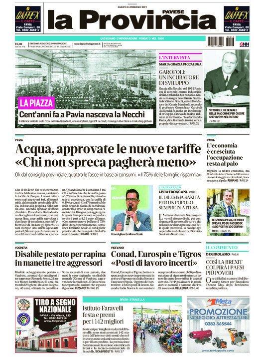 La #primapagina della provinciapavese oggi in #edicola #Pavia #Vigevano #Voghera #gruppoGedi