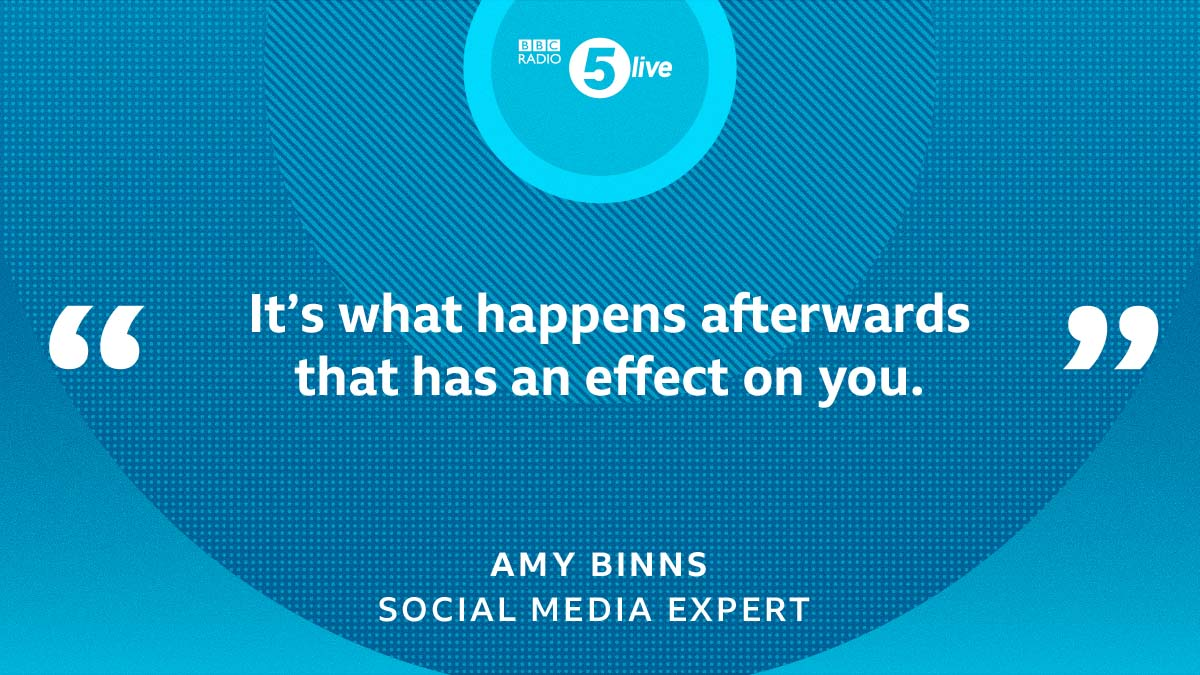"""It's not """"bullying"""" alone that affects you """"it's what happens afterwards"""" says Amy Binns – social media expert at  @UCLan after a video of a teenager being assaulted was viewed more than 400, 000 times online."""