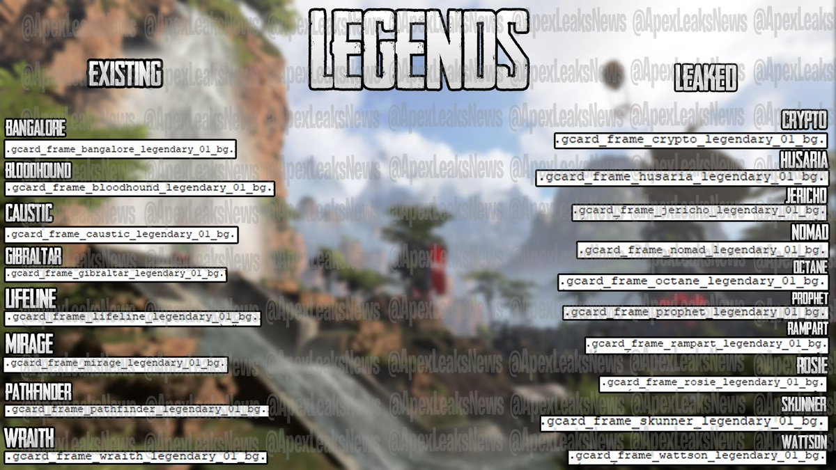 Apex Legends ~ Leaks & News (@ApexLeaksNews) | Twitter