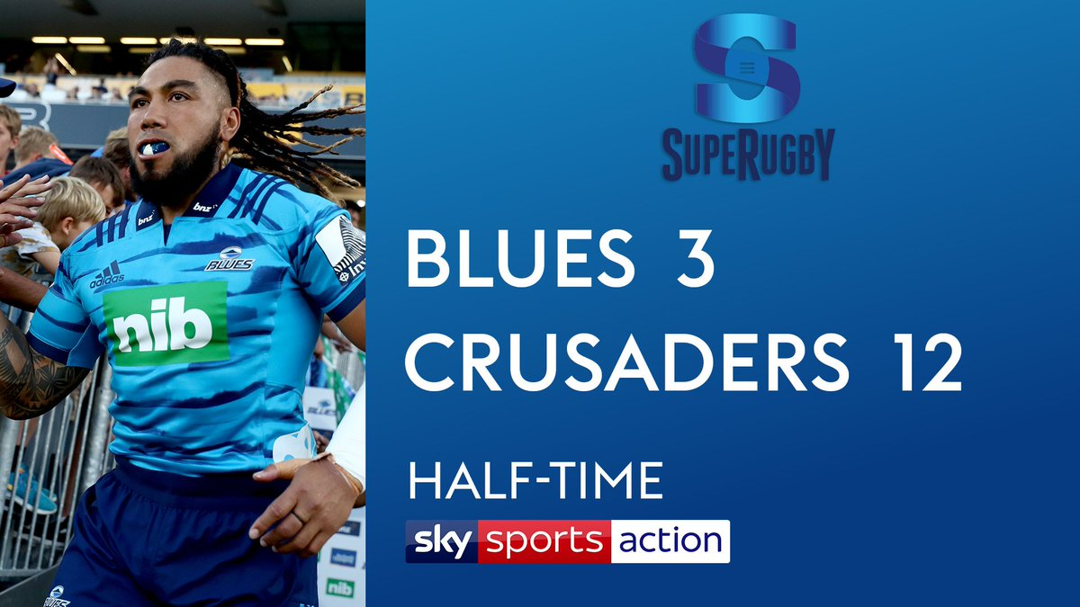 test Twitter Media - It's half-time in Auckland 🇳🇿 as Ma'a Nonu makes his return to @SuperRugby.  It's not going the way of his @BluesRugbyTeam as it stands. Defending champions @crusadersrugby lead 3-12 at the break.  Second-half coming soon on @SkySports Action. https://t.co/FW6g6LEva9