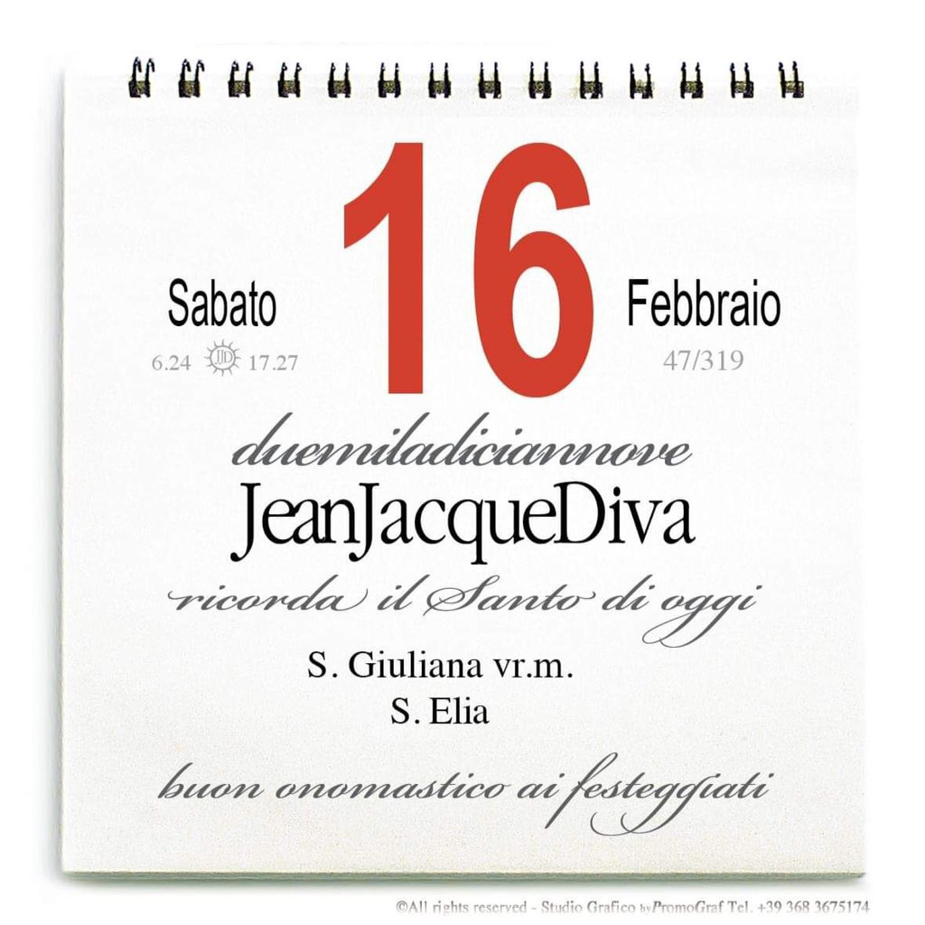 Onomastici Calendario.16ebruar Hashtag On Twitter