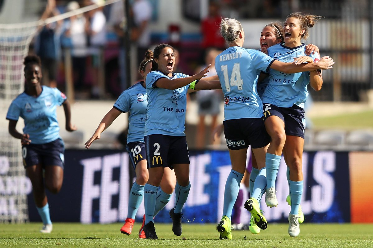 .@sydneyfc are @WLeague champions for the third time after a 4-2 win over @PerthGloryFC in the #WLeagueGF.