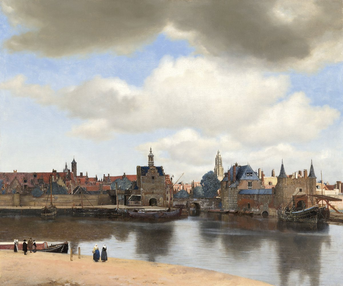 VIEW OF DELFT - The most famous cityscape of the Dutch Golden Age. But Vermeer's masterpiece is topographically inaccurate: for the sake of the composition, he manipulated reality... Read all about it on the #MeetVermeer website & @googleart app. http://ow.ly/LSZt30nHzDB