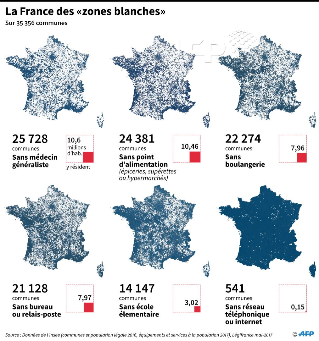 carte des zones blanches en france Agence France Presse در توییتر