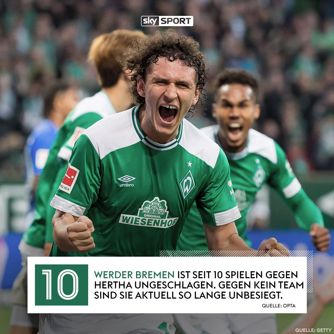 Hertha BSC und SV Werder Bremen trennen 1 Punkt in der Tabelle im Kampf um Europa. Wer hat heute die Nase vorn?  Das Krombacher Topspiel gibt es ab 17:30 Uhr live und exklusiv nur auf Sky.  #SkyBuli