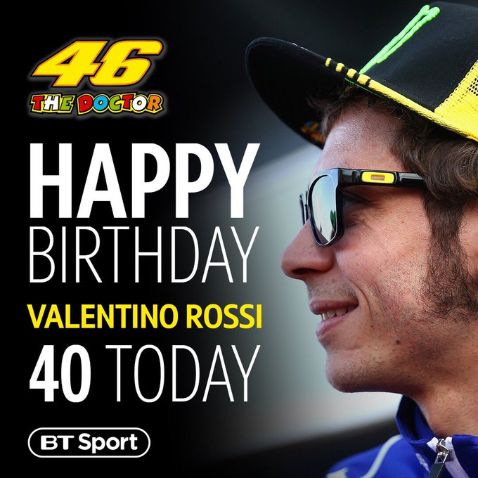 Happy birthday, Valentino Rossi!  40-years-old and still going strong A true sporting legend