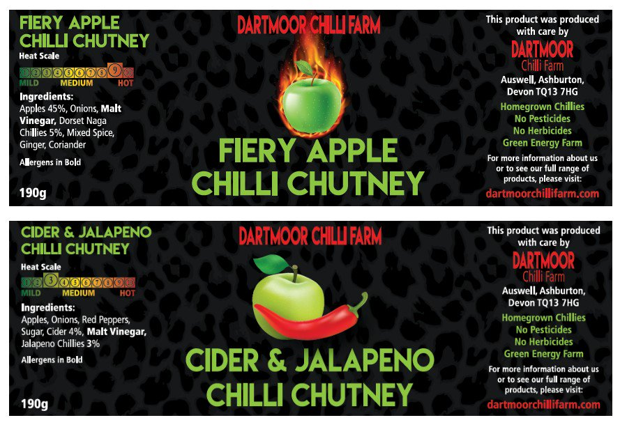 Cider &amp; Jalapeno and Fiery Apple Chutneys both back in stock.   We&#39;ve tweeked the recipe on both. Now a tad sweeter with a fuller flavour. <br>http://pic.twitter.com/gZ2lHeiTQO