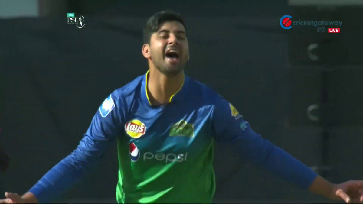 22 year-old pace bowler Ali Shafiq. Superb figures of 4-0-11-2 in his first ever Pakistan Super League match.🏏  #PSL2019 #IUvMS #PSL4