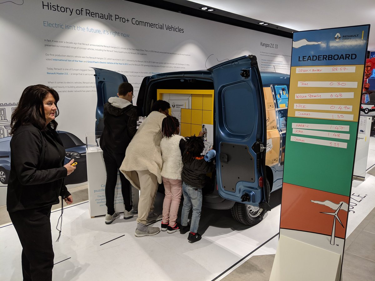 There's still time to come on down to #RenaultEVWeek, have a go at the puzzle, have a photo in the twizy photobooth and TEST DRIVE some cracking vans! 🔌⚡  #RenaultTakeover #Weekend #Puzzle