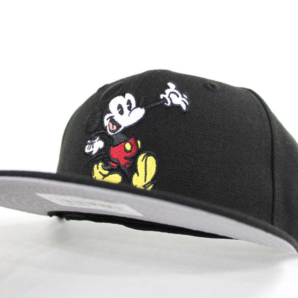 67eef2da40b Mickey Mouse II New Era 59Fifty Fitted Hat (Black Gray Under Brim) http
