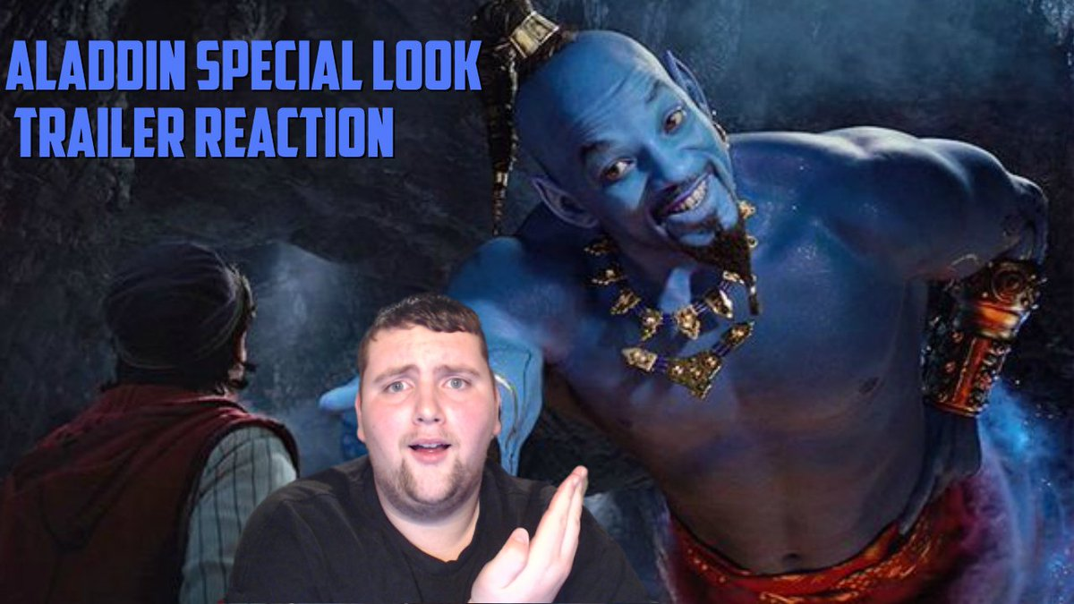 https://www. youtube.com/watch?v=cx65GG vIvGU&amp;feature=youtu.be &nbsp; …   check out my reaction to the aladdin trailer   #Aladdin #Aladdin2019 #Aladdintrailer #WillSmith #WillSmithGenie<br>http://pic.twitter.com/iprarshoY5