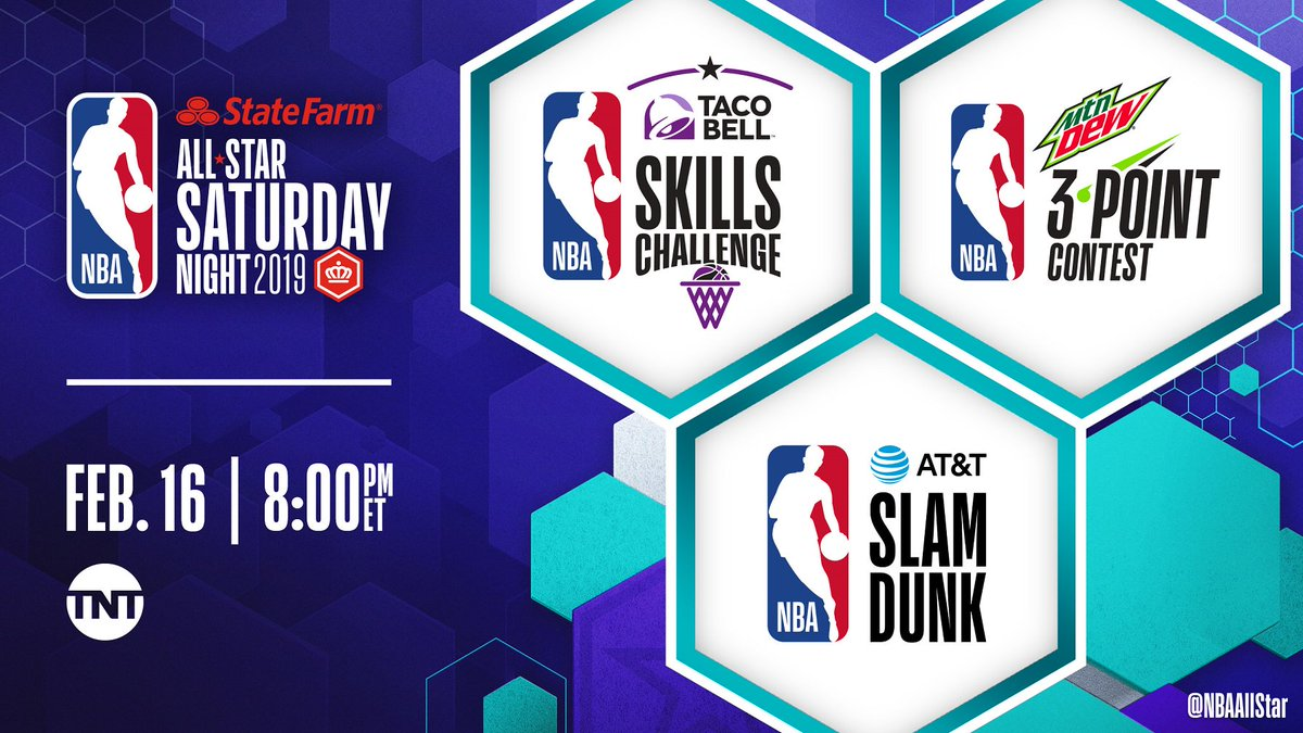 #StateFarmSaturday tips off at 8:00pm/et @NBAonTNT!