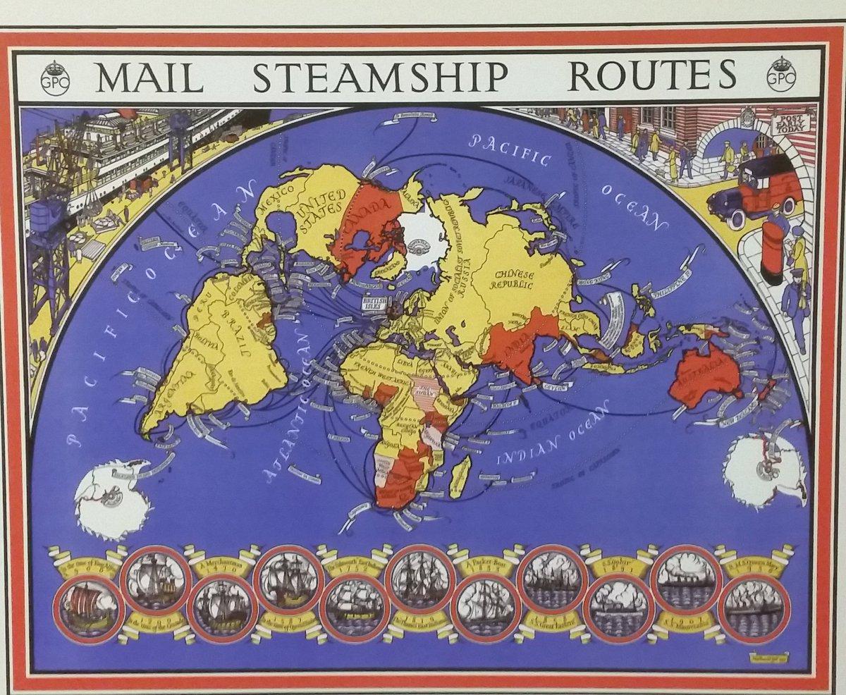 Mail Steamship Routes ! Seen at @thepostalmuseum #London ! #LoveLondon #VisitLondon #LondonCalling